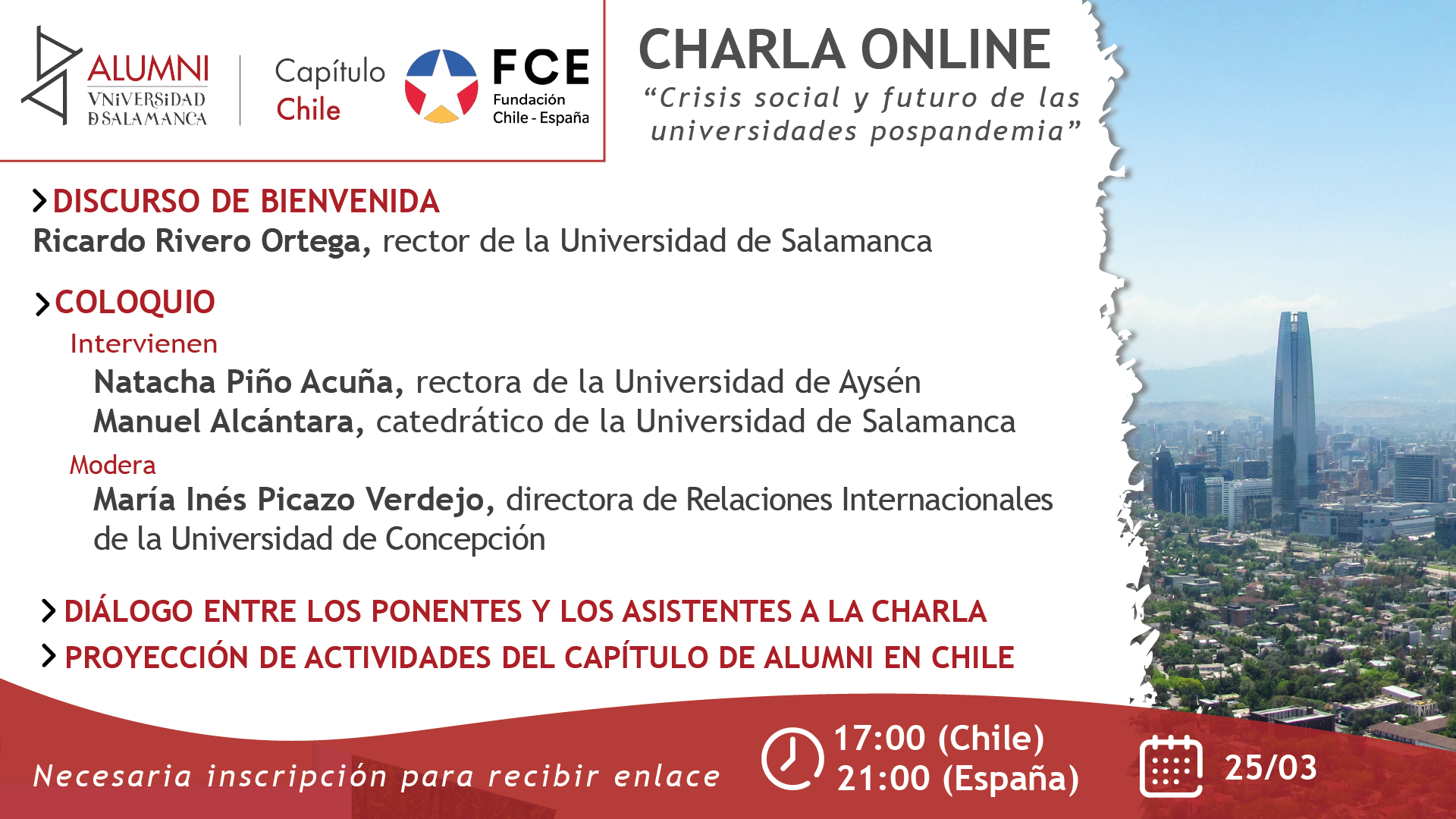 """Charla """"Crisis social y futuro en las universidades pospandemia"""""""