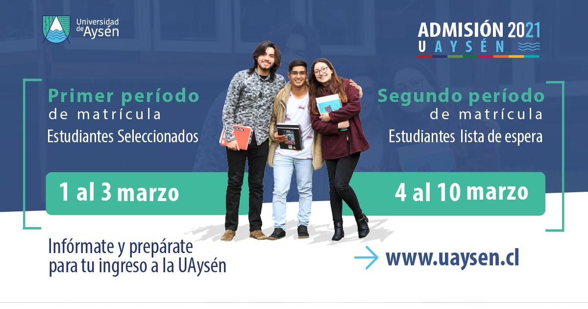 Matrículas Nuevos/as Estudiantes del 01 al 10 de marzo