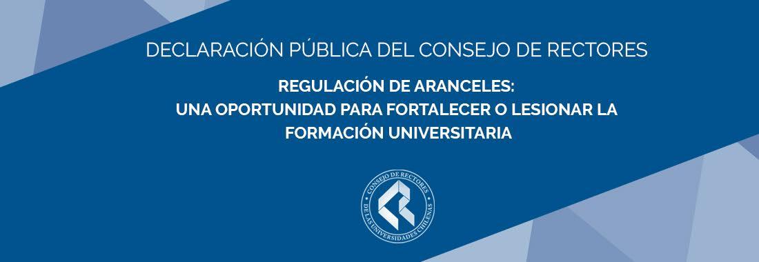 DECLARACIÓN PÚBLICA DEL CONSEJO DE RECTORES
