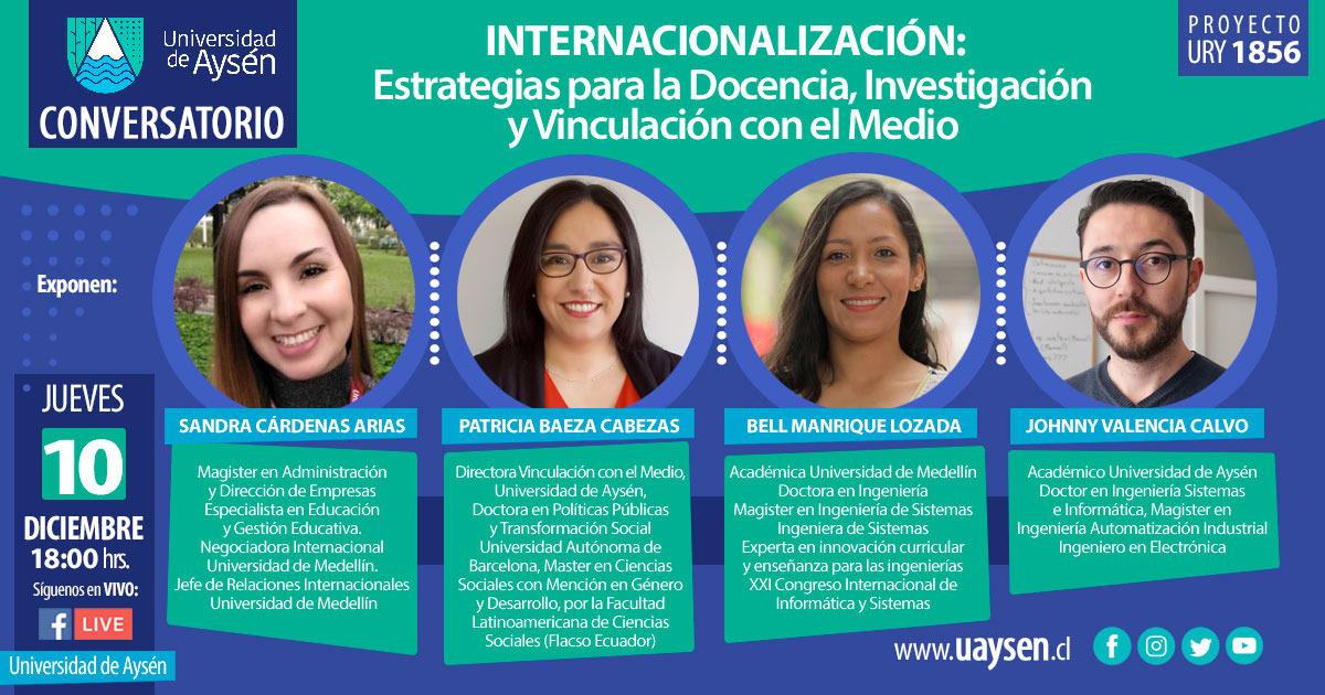 Conversatorio: Internacionalización estrategias para la docencia, investigación y vinculación con el medio
